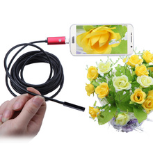 KKMOON 2 in 1 Mini USB Endoscope usb Borescope Inspection Camera microscope digital magnifier for Android Phones PC 5.5mm 5m
