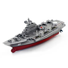 JJRC 2017 New Remote Control Challenger Boat Warship Battleship Black Warship Great Fun Toy Gift For Children Playing Drop Ship(China)