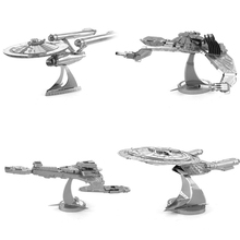 SAINTGI star wars Etching Enterprise uss Trek Space ship 3D metal model Enterprise NCC1701 action figure DIY collection model