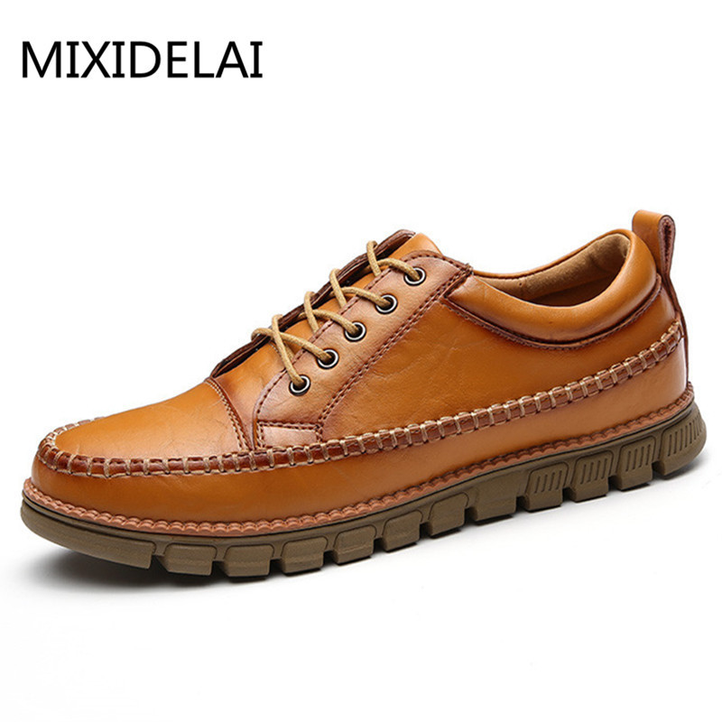 Autumn Fashion Mens Oxford Shoes Breathable Leather Casual Designer Shoes Men Comfortable Black Oxfords Mens Dress Shoes<br>