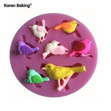 Different Kinds Of Cute Bird Shape Silicone Mold , Fondant Candle Molds, Chocolate Moulds, Silicone Molds For Cakes C159(China)