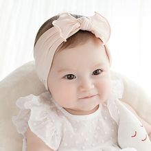 Hair Accessories BabyGirls Knotted Headband Crimping InfantToddler Turban Bow Head band Pure Cotton Knit Hairband 2016 New