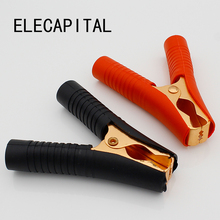 Hot Car Alligator Clips Battery Clamps Crocodile Clip 100A Red+Black(China)