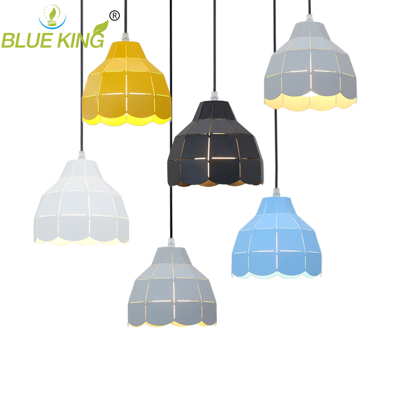 contemporary colorful single metal pendant lights for dining room modern small hanging lights lighting living room lamp <br>