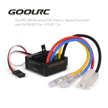 GoolRC RC Cars Parts Accessories 60A Carbon Brushed ESC Electric Speed Controller with 5V 2A BEC for 1/10 RC Car ESC Electric
