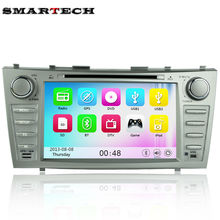 SMARTECH 2 Din Car DVD Player GPS Navigation For TOYOTA Camry With Radio RDS Bluetooth car stereo audio system head unit(China)