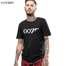 Hot sale t shirt 007 pattern men clothing fitness casual short sleeves men clothes cotton t-shirt for men