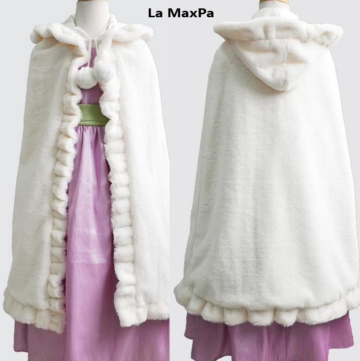 vestido girls fur cape waistcoat infant girls formal princess cape baby plush cloak kids grils cloak party cloak Fur Boleros<br>