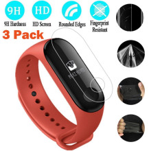 Buy 3PC Ransparent Clear Screen Protection Film Xiaomi Mi Band 3 Bracelet wearable devices relogio inteligente reloj deportivo for $2.77 in AliExpress store