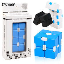 YNYNOO 30pcs Fidgets Toys Cool Magical Cubes New Plastic Folding Puzzles Cubes Funny Educational EDC Toy Best Gifts For Baby