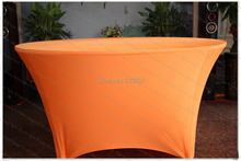 Orange Spandex Table Cover/Lycra Tablecloth/Chair Sash/Chair Cover/Napkins For Wedding Party Hotel Banquet Home Decorations