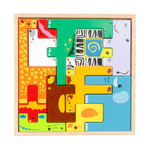 Kids Toys Educational Wooden Puzzle Cartoon Animals 3D Wood Jigsaw Puzzles Intelligence Creative Toys For Children Educativos(China)