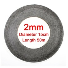 1pc Super Slim & Thin 2MM*50M Black Double Sided Adhesive Tape for Mobile Phone Touch Screen/LCD/Display Glass Top Sale