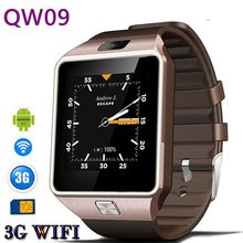 Manufacturer direct selling QW09 smart phone watch WIFI phone watch QQ WeChat waterproof(China)
