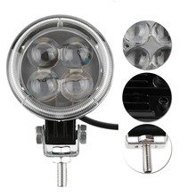 12W 3inch Round Car LED Light Offroad 4D Work Light For Jeeps 4x4 4WD AWD Suv ATV Golf Cart Driving Lamp Motorcycle Fog Light