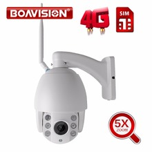 "1/2.8"" SONY323 Low Lux HD 1080P 960P 5X Optical Zoom Outdoor PTZ Dome WIFI IP Camera 3G 4G SIM Card SD Card Night Vision"