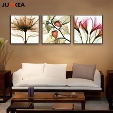 Floral Decorative Painting Minimalism Transparent Flowers, Canvas Painting Wall Picture For European Living Room Home Decor(China)