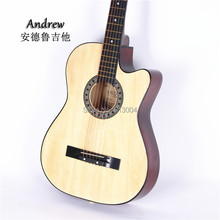 38 inches of length 96 cm ballad guitar beginners students guitar log , fade, purple, green, red, black, blue