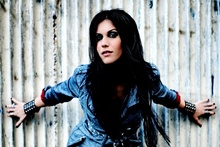 cristina scabbia singer music girl portrait KD732 living Room home wall modern art decor wood frame fabric posters prints(China)