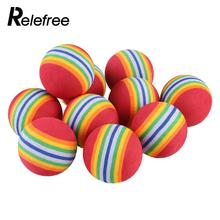 Relefree 10Pcs Rainbow Stripe EVA Sponge Golf Tennis Ball Swing Practice Training