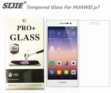 SIJIE Tempered Glass For HUAWEI p7 0.26mm Screen Protector front stronger 9H hardness thin discount with Retail Package