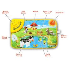 Baby Musical Carpet Children Play Mat Farm Animals Baby Musical Carpet Blanket Horse Voice Preschool Educational Mat For Kids