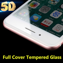 5D Curved Edge Full Coverage 0.3mm Tempered Glass for iPhone 6 6S 6plus 6splus 7 7Plus Upgrade 4D Screen Protector Film Case