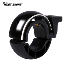 WEST BIKING Invisible Bicycle Bell Aluminium Alloy 22.2mm-24mm Cycling Handlebar Alarm Ring Loud Horn Bicycle MTB Bike Bells(China)