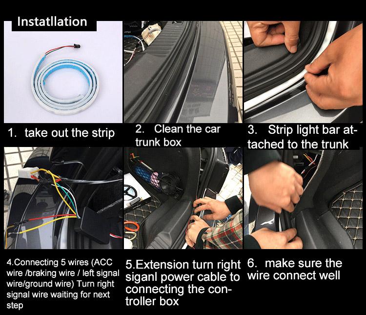 Car-styling DRL LEDs Daytime Running Light Strip Trunk Light with Side Turn Signals Rear lights Car Braking Light For BMW 10
