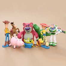 Disney Toys For Kids Toy Story Toys 9Pcs/Set Sheriff Woody Pride Buzz Jessie Hamm Rex Action Figures Kid Toy Tq0168