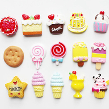 Cute Sweet Food miniature Magnetic Fridge Message Board Magnets Blackboard magnet sweets cake sugary snacks Cone Ice cream model