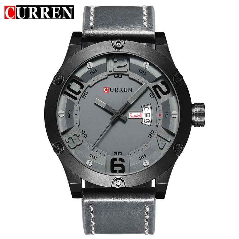 CURREN 2017 fashion top new Luxury Brand Relogio Masculino week Date diaplay Leather strap Men Sports Watches Quartz Clock 8251 <br><br>Aliexpress