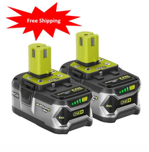 2pcs Original Used Ryobi RB18L40 18V 4.0Ah Cordless Li-Ion Lithium Battery Upgraded Cells High Capacity With Long Run Time(China)