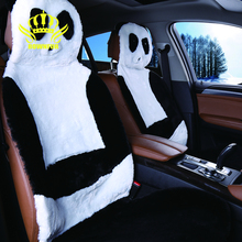 AUTOCROWN Hot Sale Universal Car Seat Interior Accessories faux fur Material Car Seat Cover Easy to install panda 2016new(China)