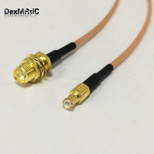 SMA female bulkhead to MCX male straight RF cable assembly RG316 15cm 6inch NEW wholesale(China)