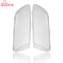 1 Pair Headlight Lenses Shell Lamp Cover Car Clear Lampshade Lampcover For Audi A6 C6(China)