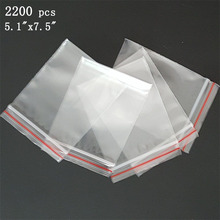 "Via DHL EMS SPSR 2,200 Pcs 2Mil 13cmx19cm ZIPLOCK BAGS 5.1""x7.5"" CLEAR RECLOSABLE ZIP SEAL BAGGIES ZIP LOCK POLY BAG"