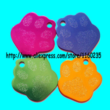 20pcs/lot(6-8colors)cheap wholesale paw print pet cat dog tags/pet id name tags,free shipping(China)