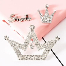 Dower Me 1Pcs Crystal Crown DIY Decoration Mobile Phone Decorations 3D Alloy Stickers for Phone(China)