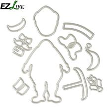 10pcs/set Santa Claus Metal Steel Cutting Dies Stencil For DIY Scrapbooking Album Paper Card Photo Decorative Craft Dies LQK5735