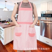 Factory direct new Korean cotton lace flowers aprons housework pocket circle aprons wholesale water pollution