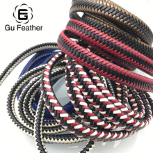 GUFEATHER The newest High-grade/12*6MM round leather cord/artificial leather/accessories parts/jewelry findings