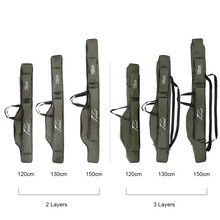 FDDL Portable Fishing Rod Bags  Multifunctional Fishing Storage  Case  120cm 130cm 150cm 2/3 Layer  for Pesca Lure Rod Accesary