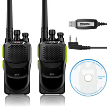 2 Pcs Baofeng/Pofung GT-1 UHF 70cm 400-470MHz 5W 16CH FM Ham Two-way Radio Portable Walkie Talkie Green with Programming Cable(China)