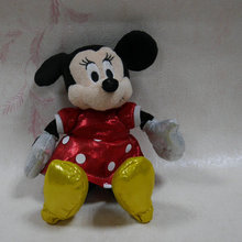 "CUTE Original Minnie Mouse Sparkle edition stuffed 5"" Plush toy doll(China)"