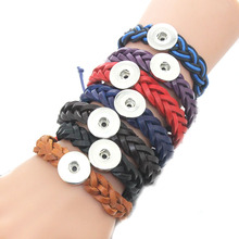 Buy 10 PCS/Lot 7 colors 18mm Snap Button adjustable Leather Bracelet DIY Jewelry Women Retro Braided Lace Bracelet Snap buttons for $6.30 in AliExpress store