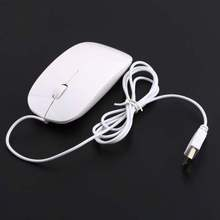 1pcs Ultra Thin USB Optical Mouse for Laptop PC Hot Worldwide(China)