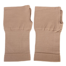 1 Pair of Elastic Wrist Brace Support for Arthritis Carpal Tunnel Nude (S)