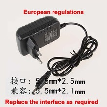Black 3v 1a EU dc power adaptor 5.5*2.1mm 5.5*2.5mm AC to 3V1A 1m cable power  charger