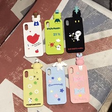 Cuptakes Soft Silicone Case for iPhone 7 6 6S Plus X 2018 Cover Cute 3D genius Rubber Phone Cases Coque Brand name Cartoon(China)